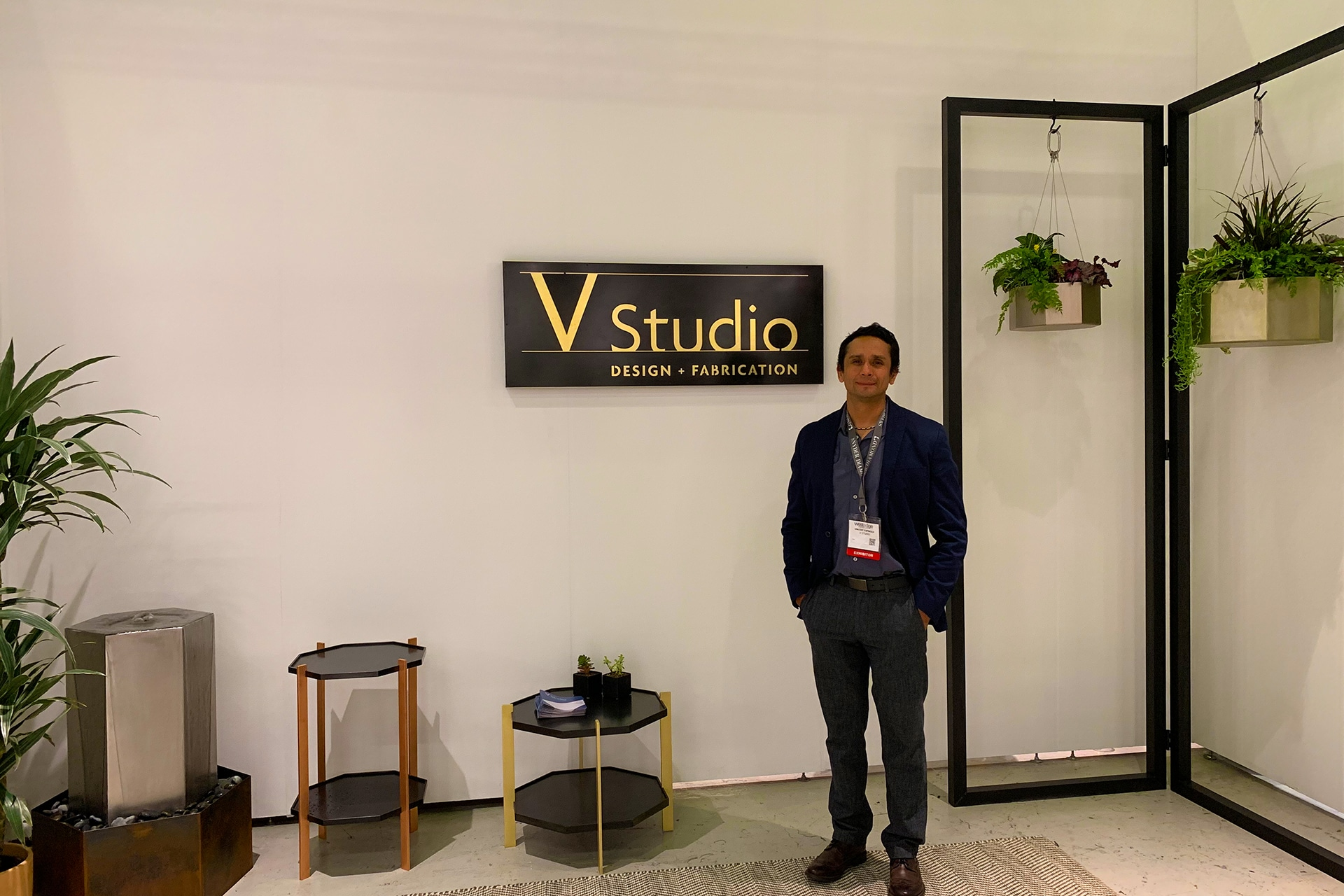 Photo of Vincent Espinoza in WestEdge booth