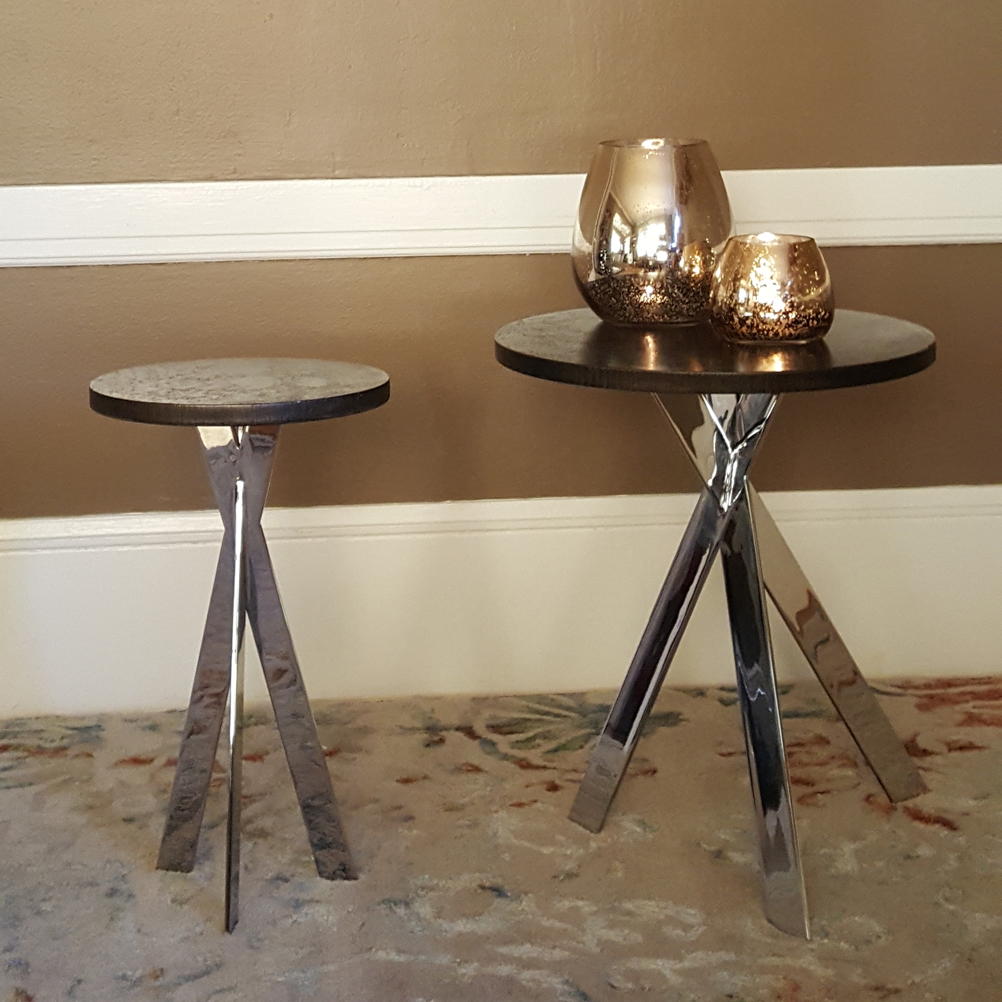 round tables, desk, wood, metalwork, metal work, metal fabrication, bay area metalworker