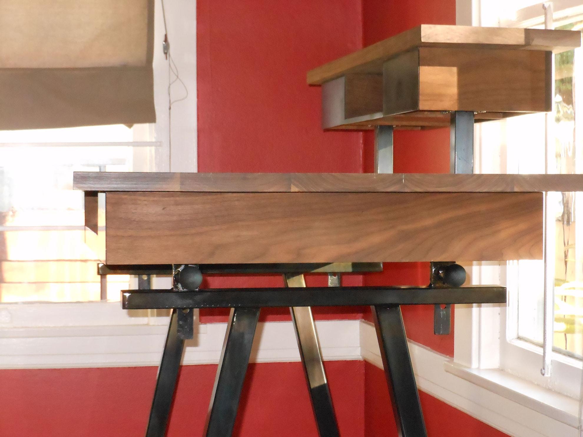 desk, wood, metalwork, metal work, metal fabrication, bay area metalworker