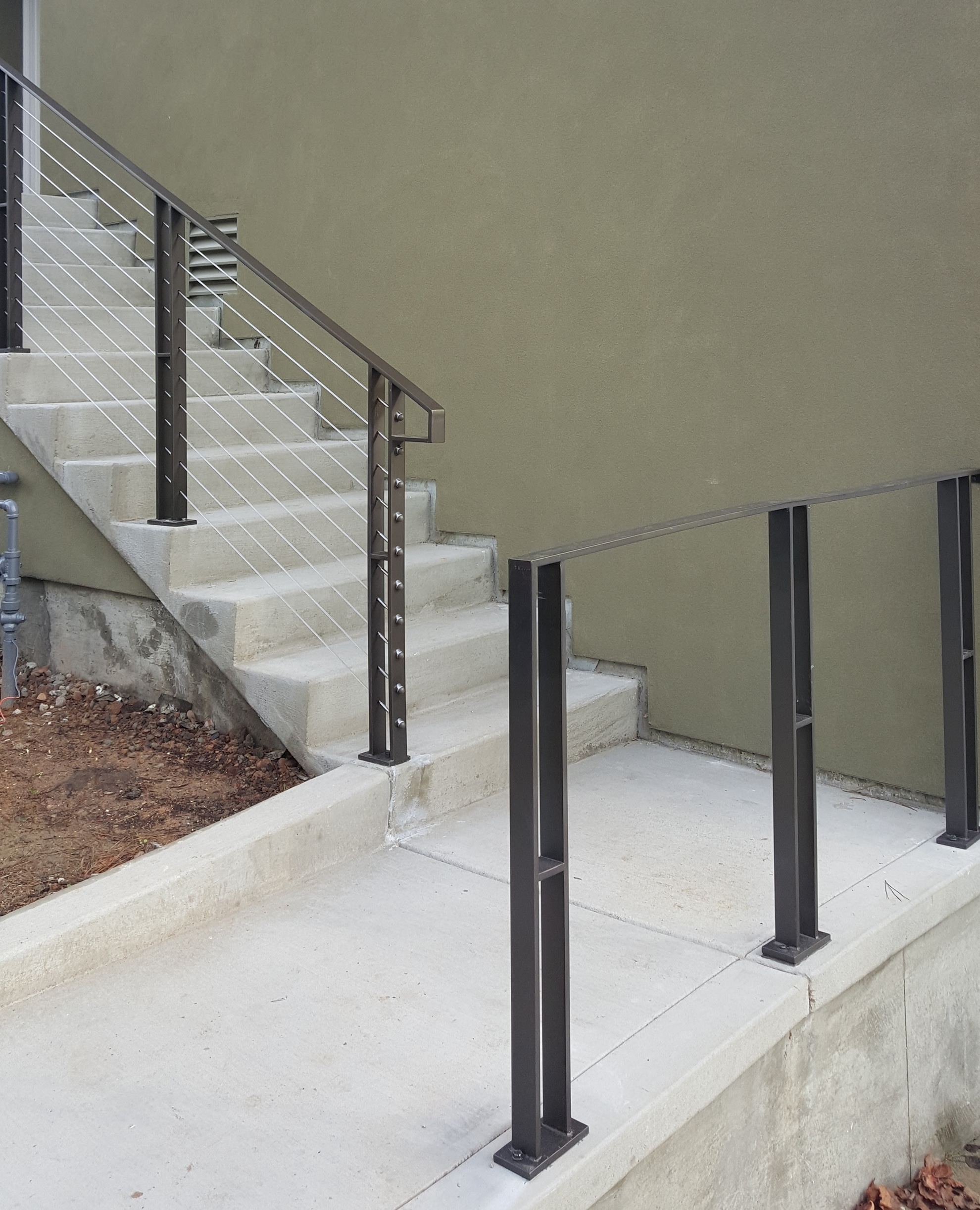 steel and cable guardrails