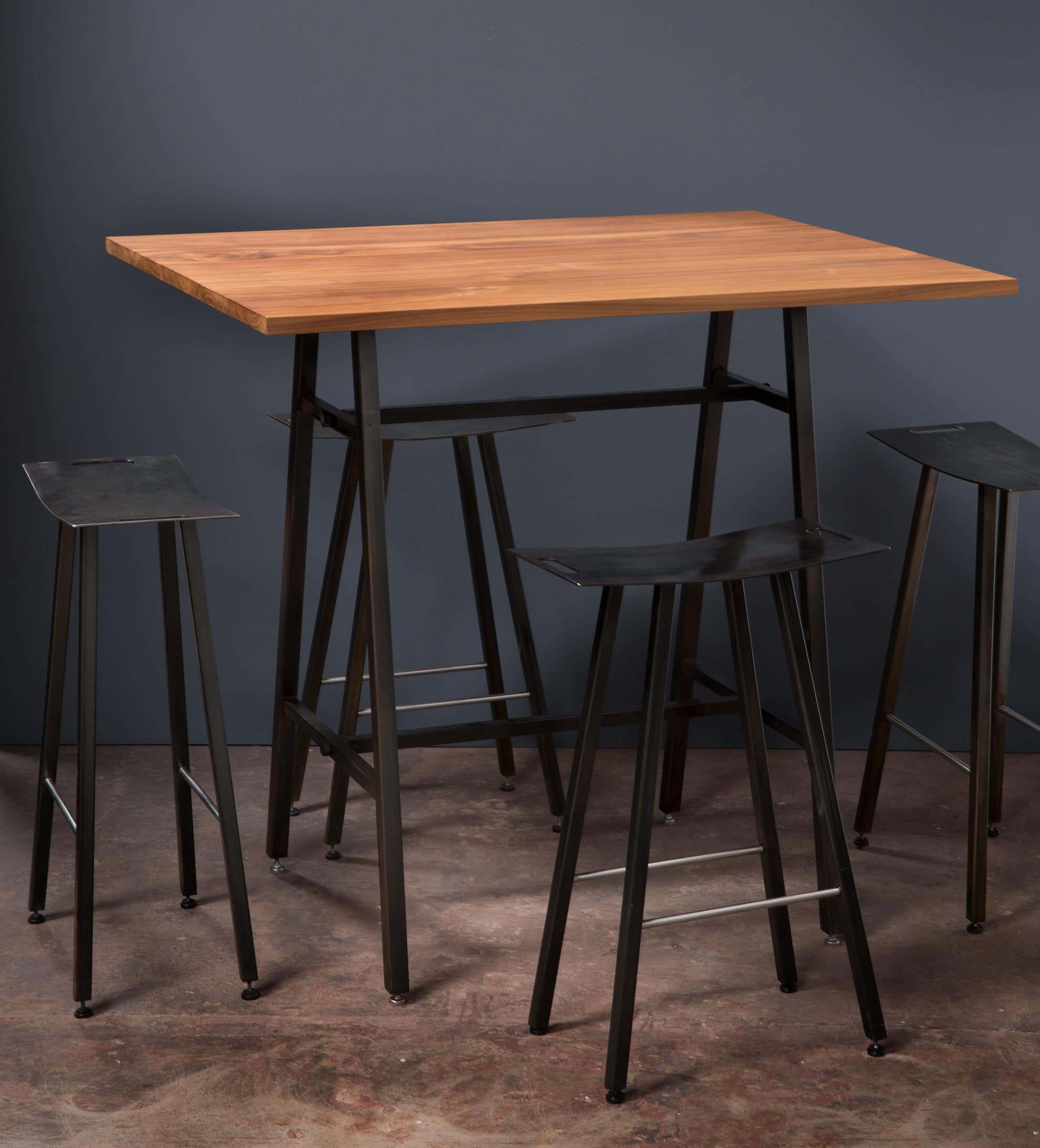 bar table set with 4 stools