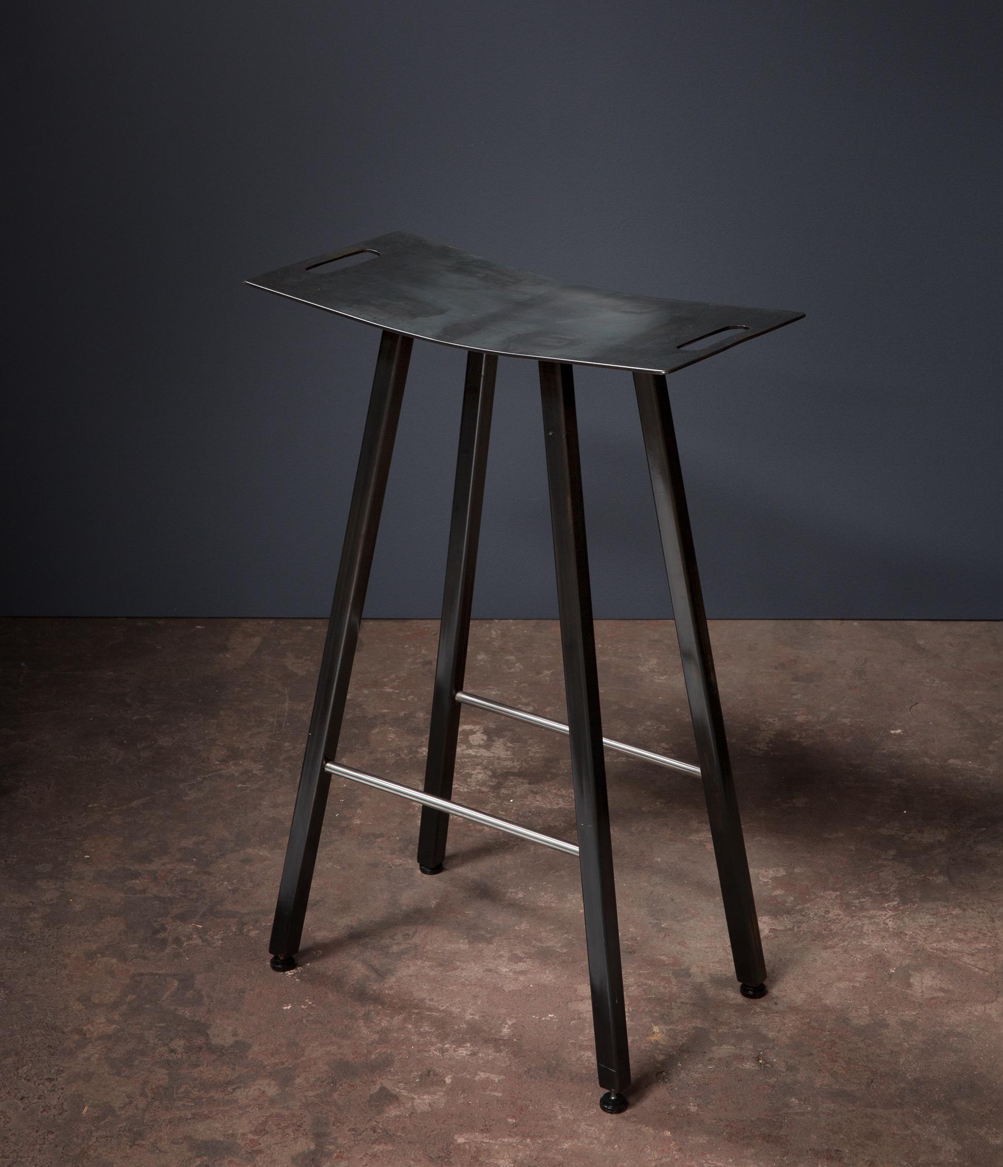 stool, metal stool, bar stool, desk, wood, metalwork, metal work, metal fabrication, bay area metalworker