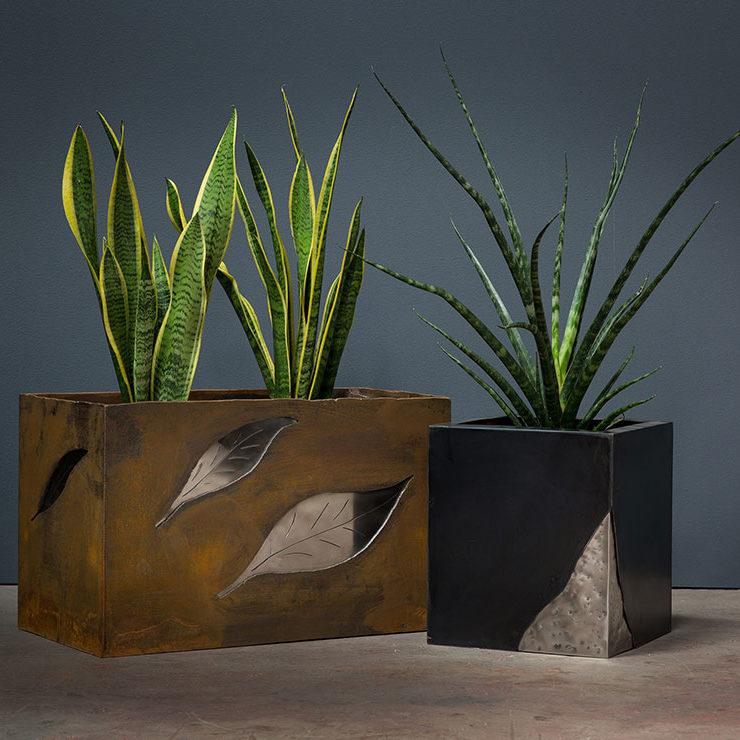 portfolio, metal planters