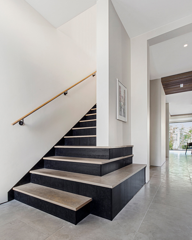 portfolio, castro district residential remodel, interior hallway railing