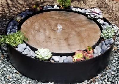 Circular Steel Water Fountain